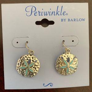 New Silver Sand Dollar earrings